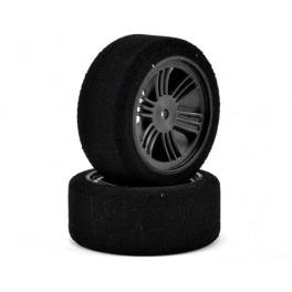 Contact RC 26mm DC Medium Foam Front Tires Carbon Black