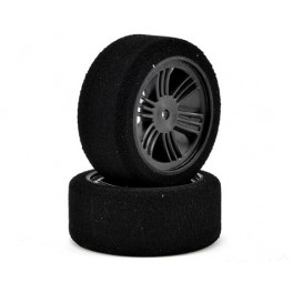Contact RC 26mm DC Hard Foam Front Tires Carbon Black