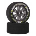 Contact RC 30mm 42sh Foam Rear Tires Carbon Black