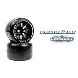 Volante F1 Rear Rubber Tires Carpet Soft Compound Preglued