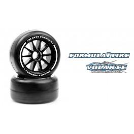 Volante F1 Rear Rubber Tires Hyper Super Soft Compound Preglued