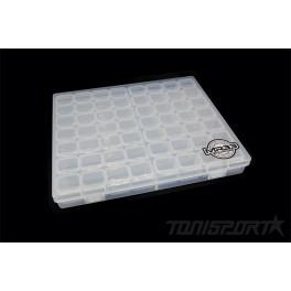 MR33 Hardware Box Large Clear 21 x 17,5 x 2,6cm, 56 in 1 box